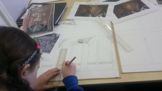 Researching rood screens at Thurlbear School 60%